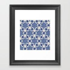Delft snowflake Framed Art Print
