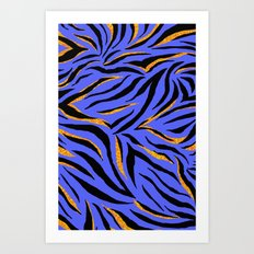 Zebra Scribble Art Print