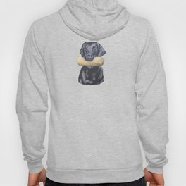 Flatcoated retriever and dumbbell Hoody