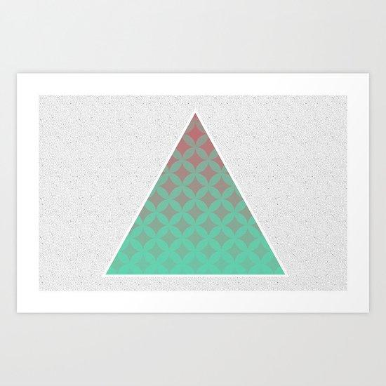 Tri Filling Art Print
