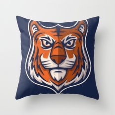 Tiger Shield Throw Pillow
