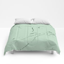 mint green modern marble Comforters