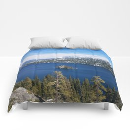 Inspiration Point at Emerald Bay Comforters