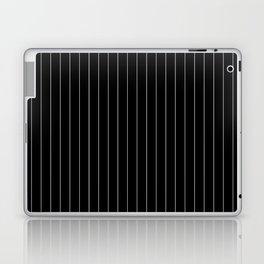 Black White Pinstripes Minimalist Laptop & iPad Skin