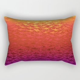 Sharks At Sunset Rectangular Pillow