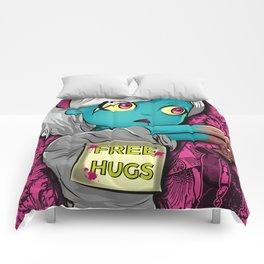 Free Hugs Walking Dead Zombie Girl Comforters