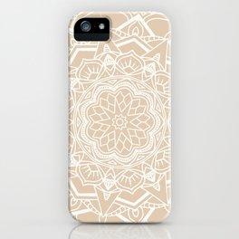 Winter flower mandala iPhone Case
