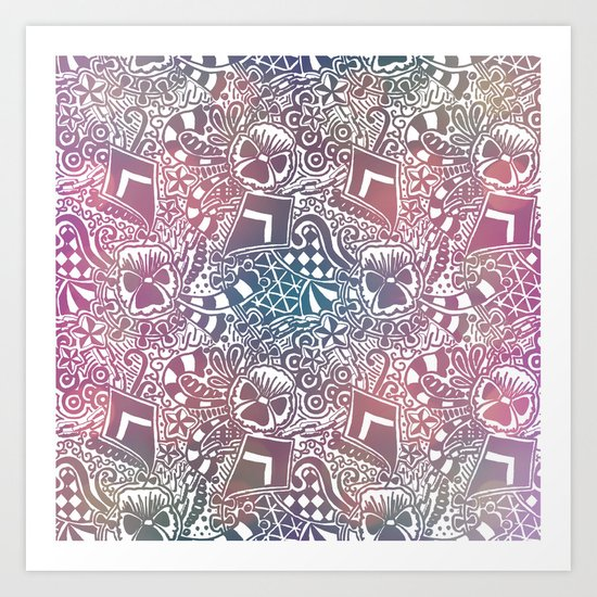 Theta Print-Pastel Art Print