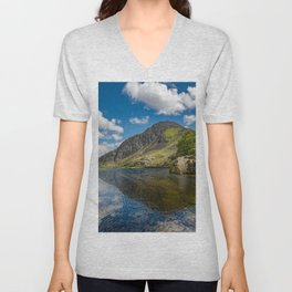 Tryfan Mountain Snowdonia Wales Unisex V-Neck