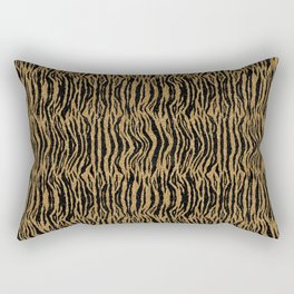 Glitter Digital Look Tiger Print Rectangular Pillow