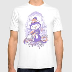 Tea Monkey Tea Party White Mens Fitted Tee MEDIUM