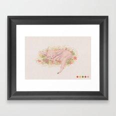Fox sleeping Framed Art Print