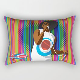 Gladys Subway Soul by Dawn Carrington Rectangular Pillow