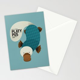Hello Platypus Stationery Cards