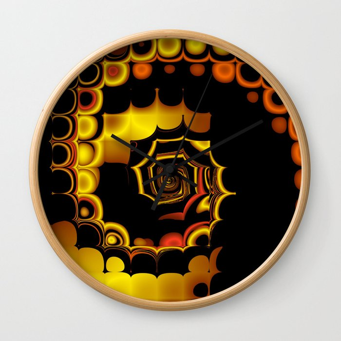 TGS Fractal Abstract 3 Wall Clock