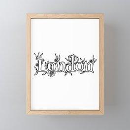 London Town logo design Framed Mini Art Print