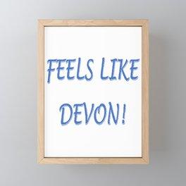 FEELS LIKE DEVON!  BLUE LOGO Framed Mini Art Print