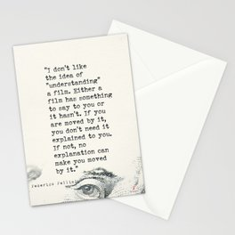 """I don't like the idea of """"understanding"""" a film. 3 Stationery Cards"""
