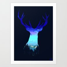 Deer Country Art Print