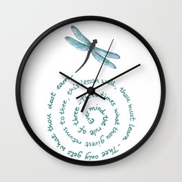 Witches rule of Three and dragonfly Wall Clock