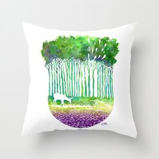 Deer Path Throw Pillow