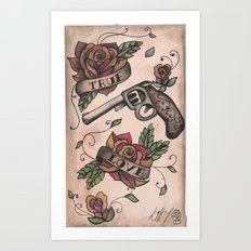 The guns and the roses Art Print