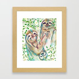 Sloth Family Framed Art Print