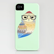 hipster owl Slim Case iPhone (4, 4s)