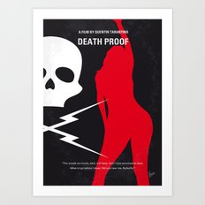 No018 My DeathProof minimal movie poster Art Print