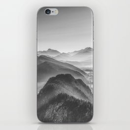Balloon ride over the alps 3 iPhone Skin
