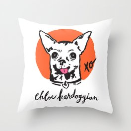 Chloe Kardoggian Illustration with Signature Throw Pillow