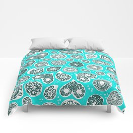 Frutti blue Comforters