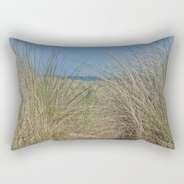 Tall grass on Scottish beach Rectangular Pillow