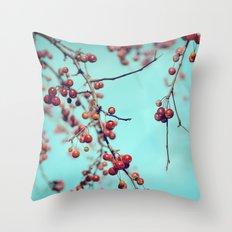 Hawberry Winter Tree Throw Pillow