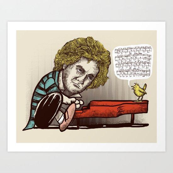 Play it by ear Art Print
