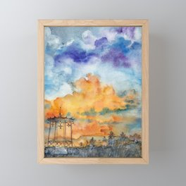 Hot sunset in Pyatigorsk Framed Mini Art Print