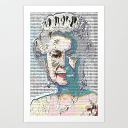 BLUE QUEEN RUG Art Print
