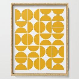 Mid Century Modern Geometric 04 Yellow Serving Tray