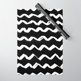 Ink Chevron(invert) Wrapping Paper