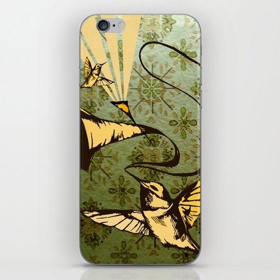 analog zine - song bird iPhone & iPod Skin