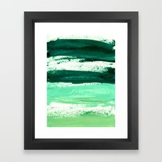 waves emerald Framed Art Print