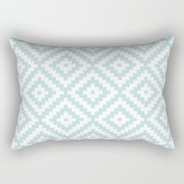 Aztec Block Symbol Ptn Blue & White II Rectangular Pillow