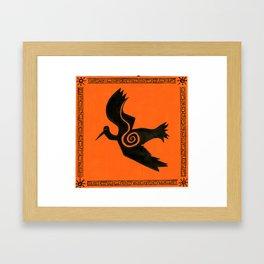 orange crane Framed Art Print