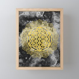 Flower Of Life (Batik 10) Framed Mini Art Print