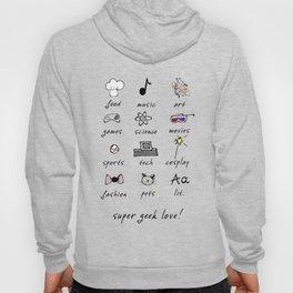 geek love! grey Hoody