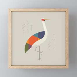 Brolga Framed Mini Art Print