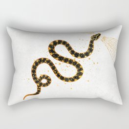 Dark Snake Inktober :: Sleep Copiously Rectangular Pillow