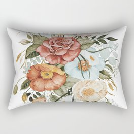Roses and Poppies Rectangular Pillow