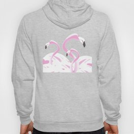 Soft Pink Flamingos Design Hoody