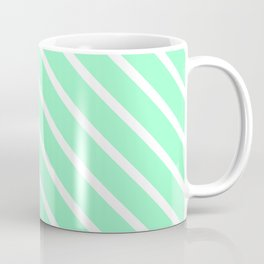 Mint Julep #2 Diagonal Stripes Coffee Mug
